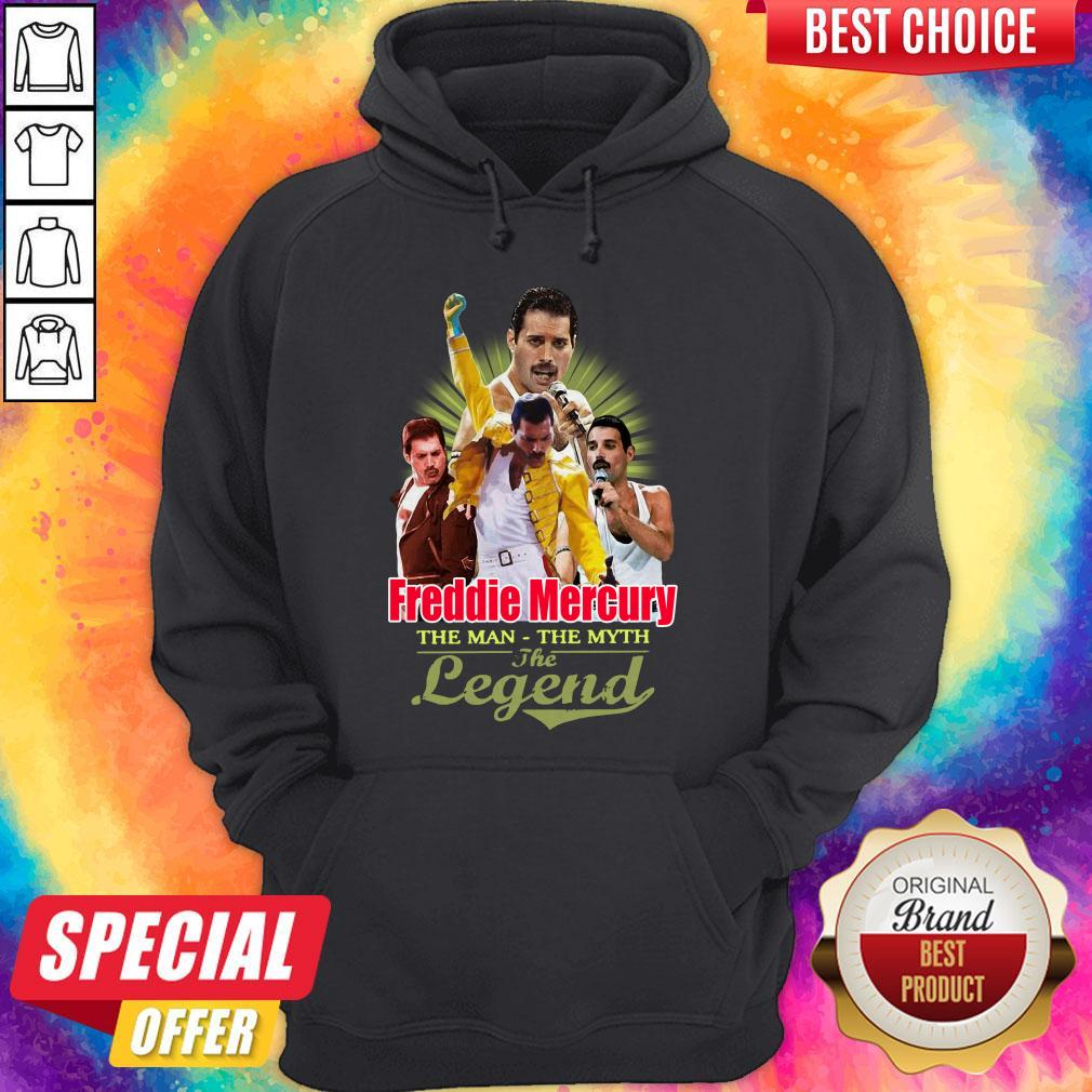 Nice Freddie Mercury The Man The Myth The Legend Thank You For The Memories Hoodie