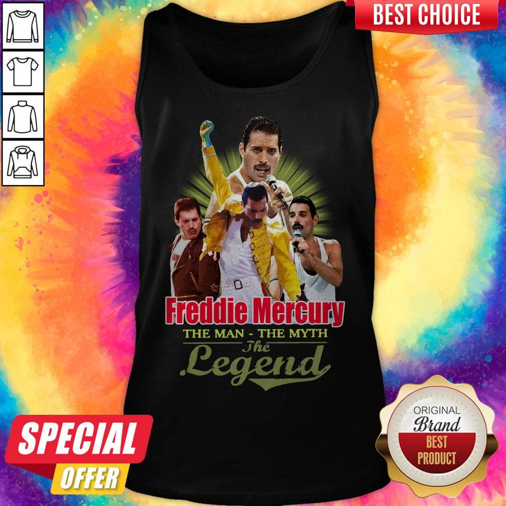 Nice Freddie Mercury The Man The Myth The Legend Thank You For The Memories Tank Top