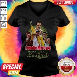Nice Freddie Mercury The Man The Myth The Legend Thank You For The Memories V-neck