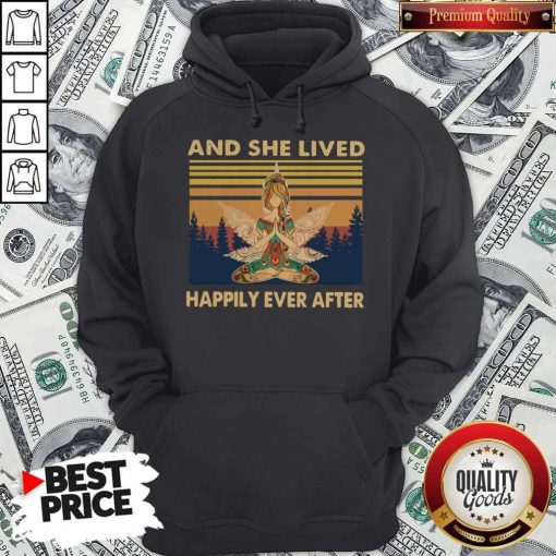 Nice Girl Yoga And She Lived Happily Ever After Vintage Hoodie