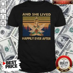 Nice Girl Yoga And She Lived Happily Ever After Vintage Shirt