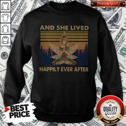 Nice Girl Yoga And She Lived Happily Ever After Vintage Sweatshirt