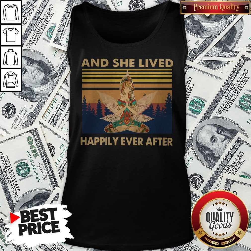Nice Girl Yoga And She Lived Happily Ever After Vintage Tank Top