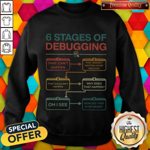 Perfect 6 Stages Of Debugging Sweatshirt