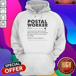 Postal Worker An Individual Who Does Precision GuessWork Based On Unreliable Data Hoodiea