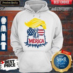 Premium Donald Trump Engle Merica Full Color Hoodie