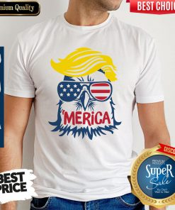 Premium Donald Trump Engle Merica Full Color Shirt