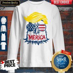 Premium Donald Trump Engle Merica Full Color Sweatshirt