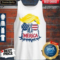 Premium Donald Trump Engle Merica Full Color Tank Top
