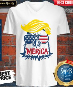 Premium Donald Trump Engle Merica Full Color V-neck