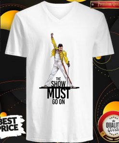 Premium Freddie Mercury Queen The Show Must Go On V-neck