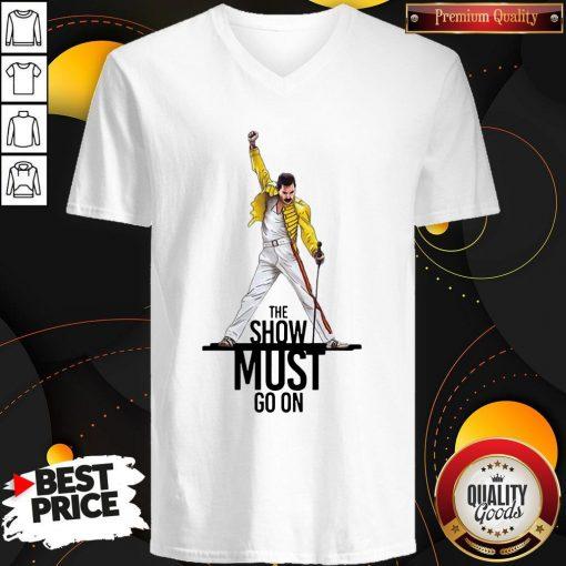 Premium Freddie Mercury Queen The Show Must Go On V-neck