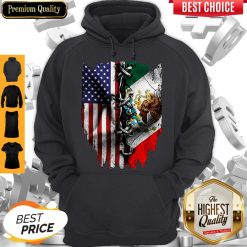 Premium Vintage Mexican American Flag Hoodie
