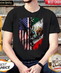 Premium Vintage Mexican American Flag Shirt