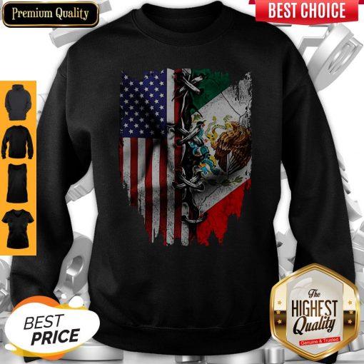 Premium Vintage Mexican American Flag Sweatshirt