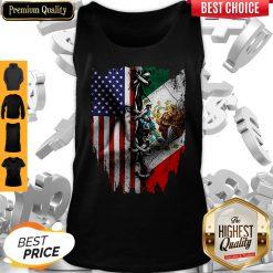 Premium Vintage Mexican American Flag Tank Top