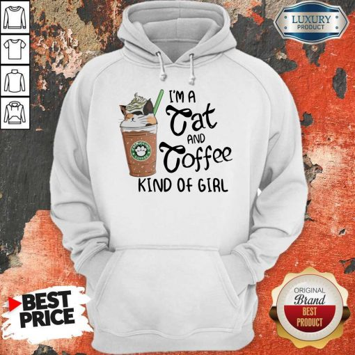Pretty I'm A Cat And Coffee Kind Of Girl Hoodie