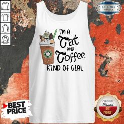 Pretty I'm A Cat And Coffee Kind Of Girl Tank Top