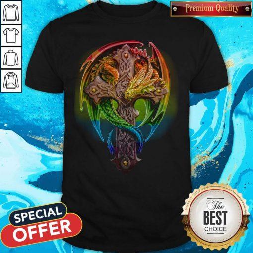 Top Cross Green Dragon Shirt