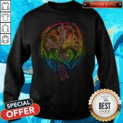 Top Cross Green Dragon Sweatshirt