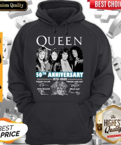 Top Queen 50th Anniversary 1970 2020 Vintage Hoodie