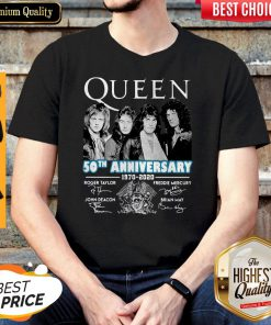 Top Queen 50th Anniversary 1970 2020 Vintage Shirt