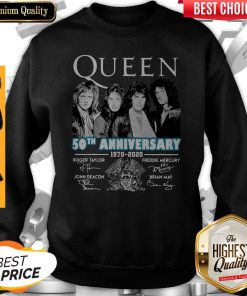 Top Queen 50th Anniversary 1970 2020 Vintage Sweatshirt