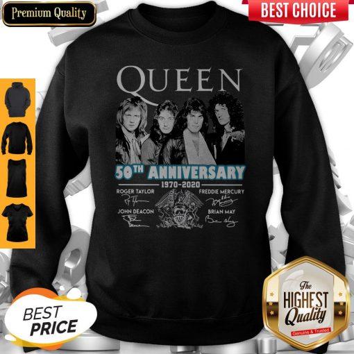 Top Queen 50th Anniversary 1970 2020 Vintage Sweatshirt