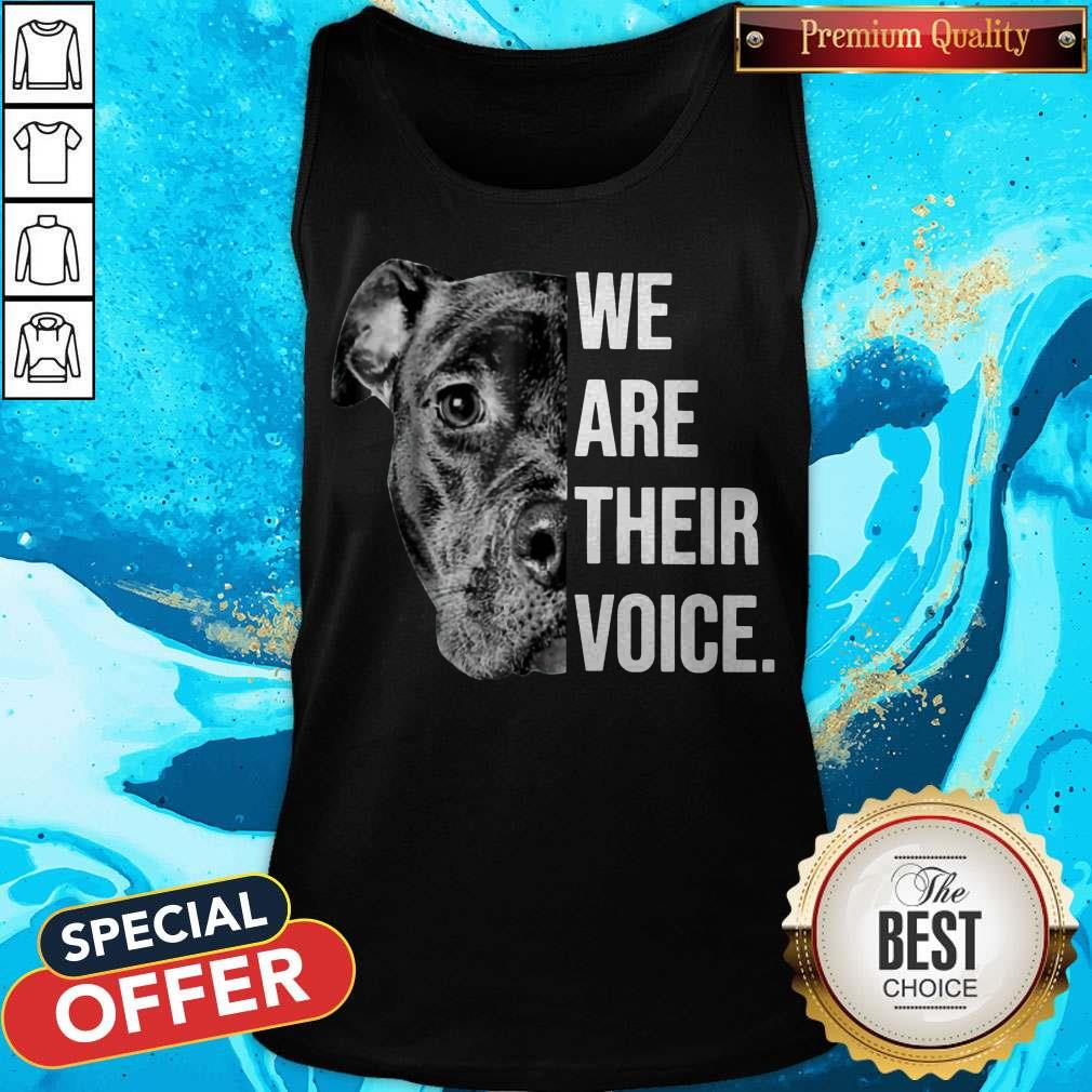 Top We Are Their Voice Tank Top