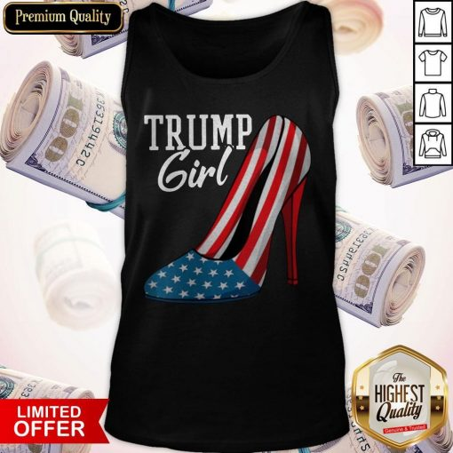 Trump Girl Pumps American Flag Tank Top