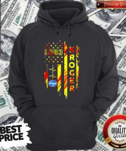 1883 Kroger Heartbeat American Flag Independence Day Hoodie