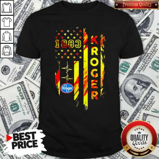 1883 Kroger Heartbeat American Flag Independence Day Shirt