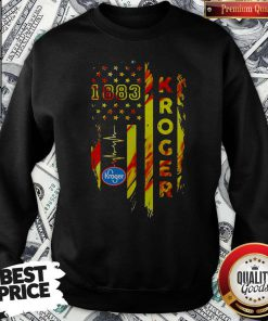 1883 Kroger Heartbeat American Flag Independence Day Sweatshirt