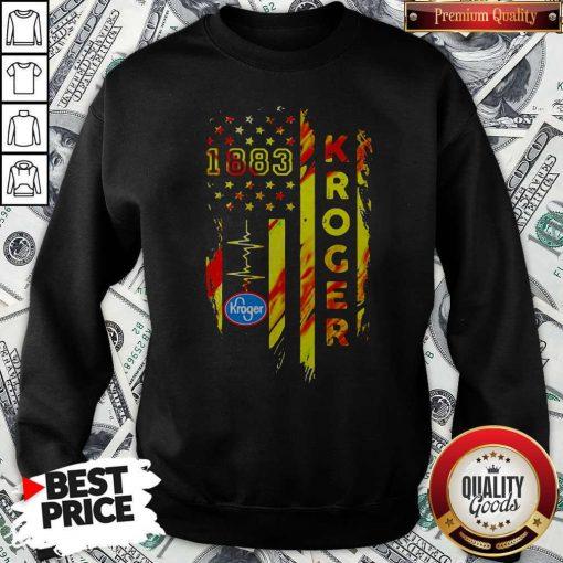 1883 Kroger Heartbeat American Flag Independence Day Sweatshirt