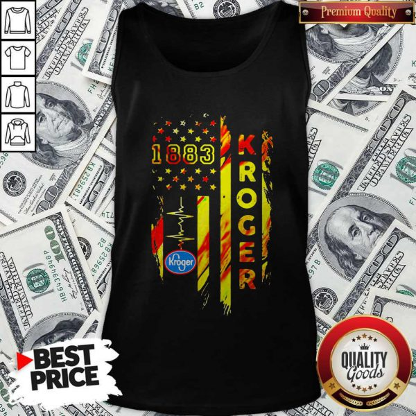 1883 Kroger Heartbeat American Flag Independence Day Tank Top