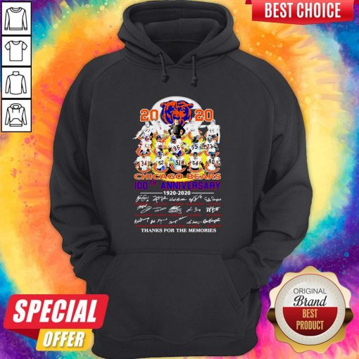 2020 Chicago Bears 100th Anniversary 1920 2020 Thank You For The Memories Hoodie