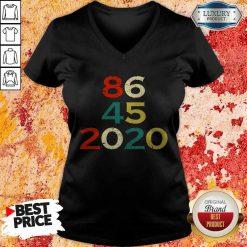86 45 2020 Anti Trump V-neck
