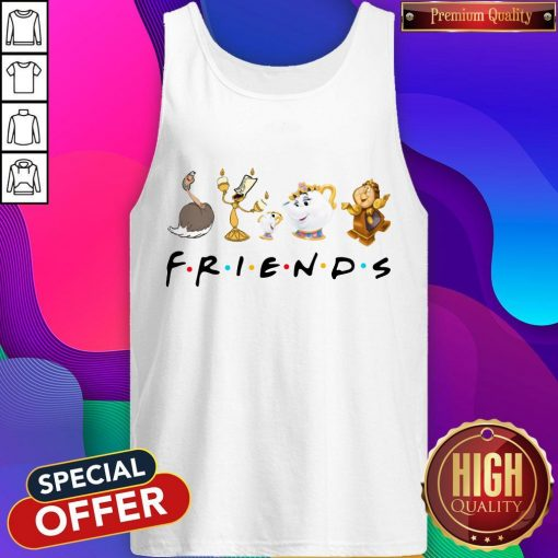 Beauty And The Beast Characters Friends Tank Top