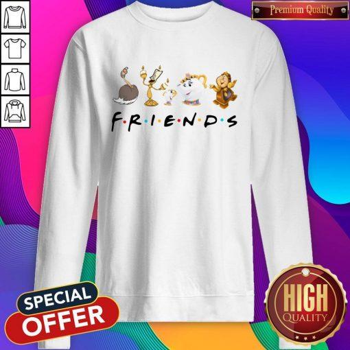 Beauty And The Beast Characters Friends Sweatshirt