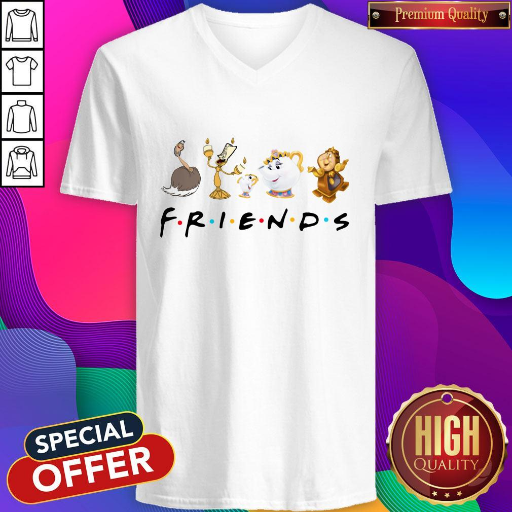 Beauty And The Beast Characters Friends V-neck