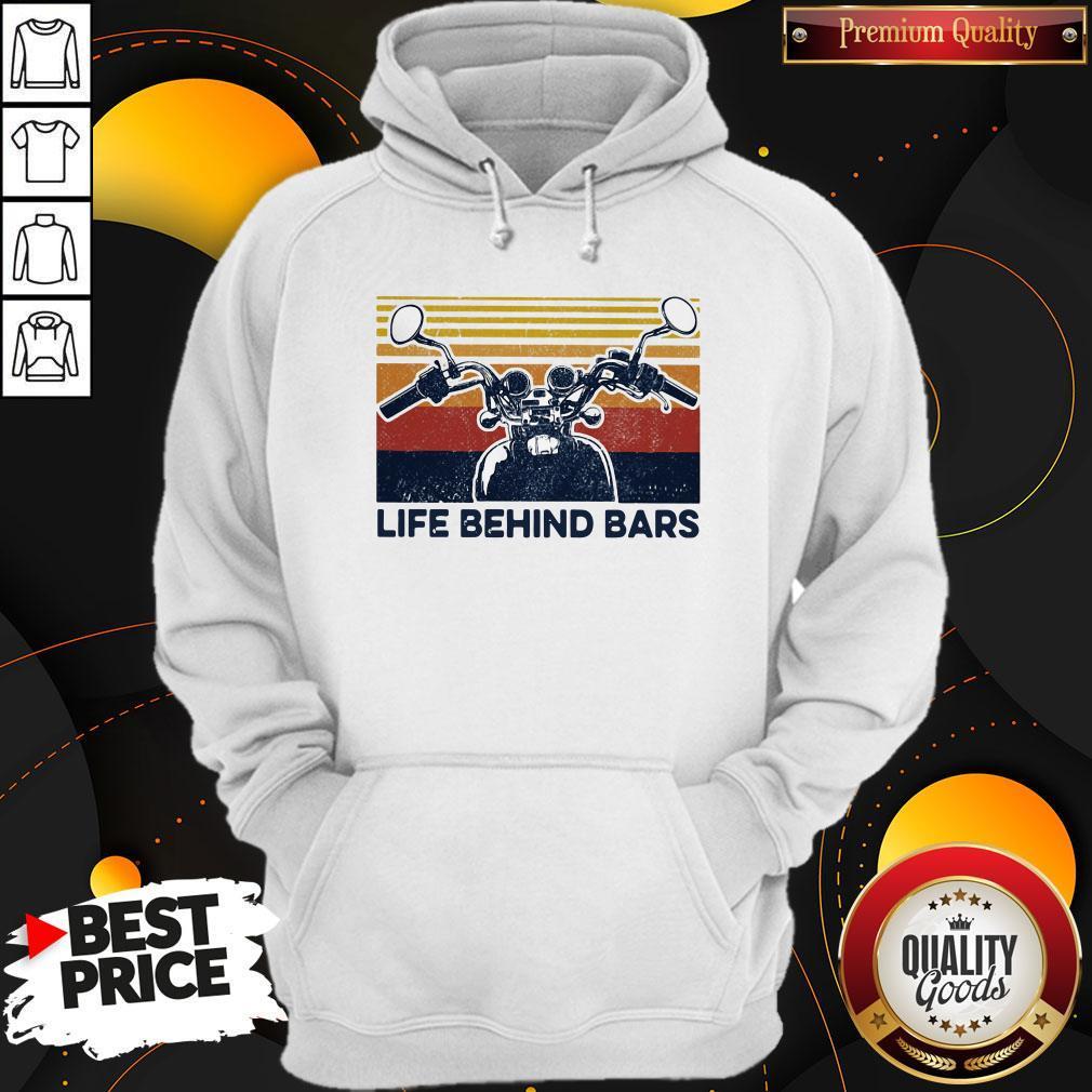Life Behind Bars Motor Vintage Retro Hoodie
