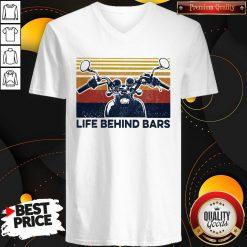 Life Behind Bars Motor Vintage Retro V-neck