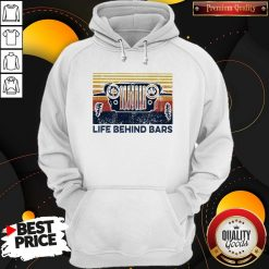 Life Bihind Bars Car Vintage Retro Hoodie