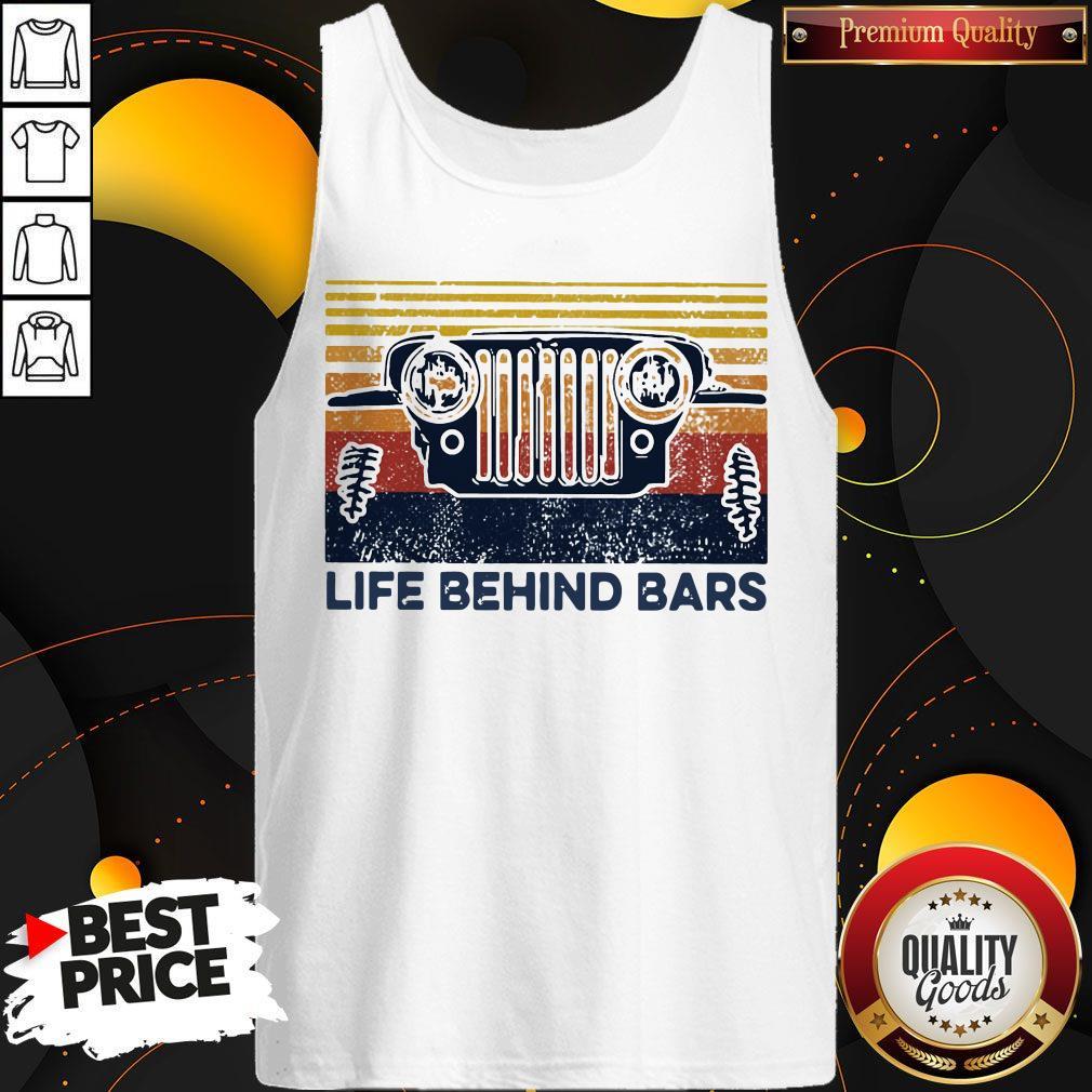 Life Bihind Bars Car Vintage Retro Tank Top
