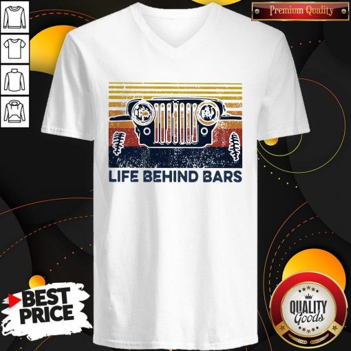 Life Bihind Bars Car Vintage Retro V-neck