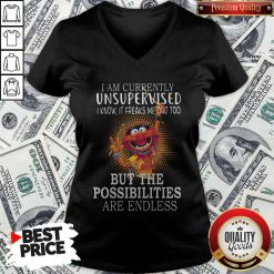 Muppets I'm Currently Unsupervised I Know It Freaks Me Out Too But The Possibilities Are Endless V-neck