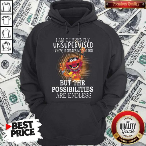 Muppets I'm Currently Unsupervised I Know It Freaks Me Out Too But The Possibilities Are Endless Hoodie