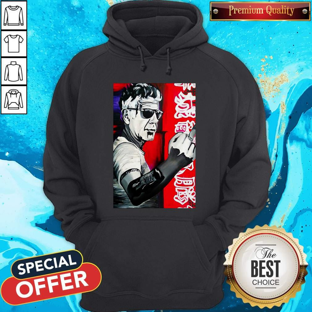 Anthony Bourdain Fuck Middle Finger Hoodie