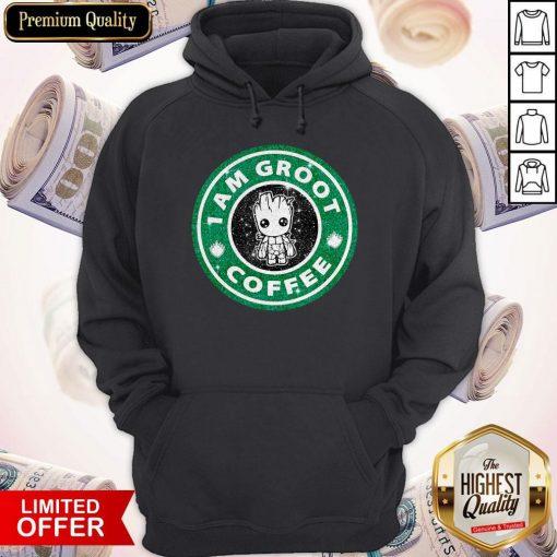 Baby Groot I Am Groot Coffee Hoodie
