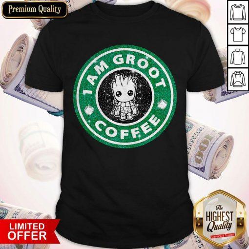 Baby Groot I Am Groot Coffee Shirt